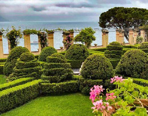 Giardino italiano a picco sul mare de la cervara a santa margherita ligure